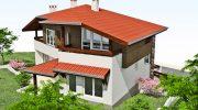 Проект на двуетажна къща - РЗП 178 кв.м