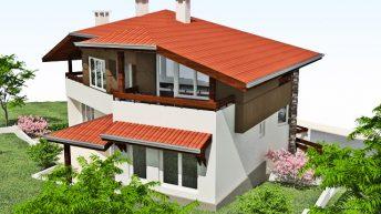 Проект на двуетажна къща – РЗП 178 кв.м