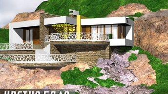 Архитектурен проект на вилна сграда в Троянския Балкан - РЗП: 94 кв.м