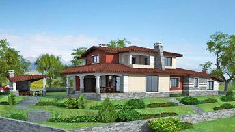 Проект на еднофамилна къща в с. Дълбоки, общ. Стара Загора.