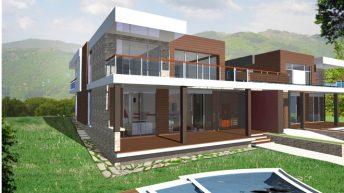 """Проекти на две еднофамилни жилищни сгради в местност """"Исака"""", край с. Марково – РЗП 366 и 371 кв.м"""