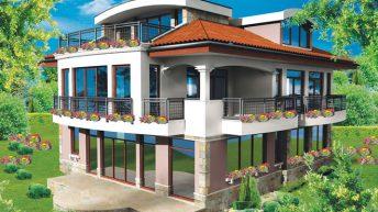 Проект на къща с изглед към Витоша – РЗП: 390 кв.м