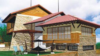 Проект на къща в с. Дебнево, общ. Троян – РЗП 225 кв.м