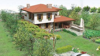 Проект на еднофамилна къща за селски и винен туризъм с. Разбойна, общ. Руен –  РЗП: 155 кв.м