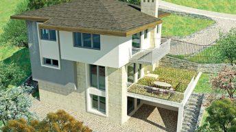 Проект на двуетажна къща в с. Кладница, общ. Перник – РЗП 222 кв.м