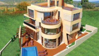 """Проект на къща в м.""""БУДЖАКА""""- гр. Созопол. – РЗП 732 кв.м"""