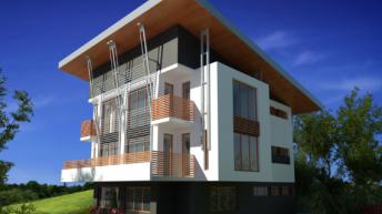 Проект на двуфамилна къща с  РЗП 347 кв.м