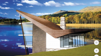 Проект на двуфамилна къща подходяща едновременно за свободно и свързано застрояване с  РЗП – 350 до 500 кв.м