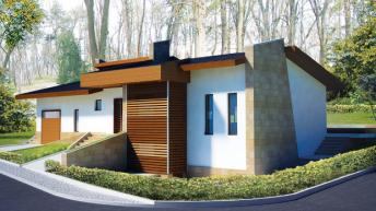 Проект на едноетажна къща в полите на Витоша - РЗП 214 кв.м