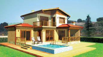 Проект на малка двуетажна къща - РЗП 127 кв.м