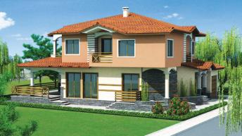 Проект еднофамилна двуетажна къща м. Прослав, Пловдив-Запад – РЗП 316 кв.м