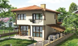 Проект на двуетажна къща в гр. Белослав