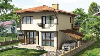 Проект на еднофамилна къща – РЗП 156 кв.м