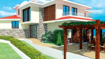 Проект на еднофамилна къща в с. Лъка, общ. Поморие –  РЗП 304 кв.м