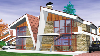 Ваканционна жилищна сграда - проект РЗП 120 кв.м