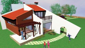 Проект на еднофамилна къща с ателиета на художник професор Димитър Чолаков в гр. Търговище - РЗП: 317 кв.м