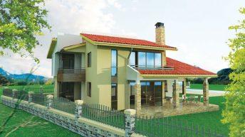 """Проект на къща в м. """"Бански рид"""" гр. Банкя – РЗП 251.5 кв. м"""