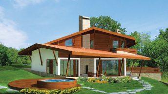 Проект на къща в с. Остра Могила, община Стара Загора – РЗП (на и над терен) –181,22 кв.м