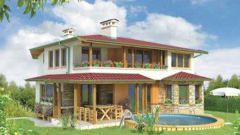 Проект на къща в полите на планината – РЗП: 240.00 кв.м