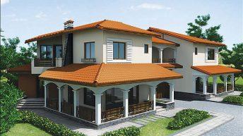 Проект на двуфамилна къща в землището на гр. Пловдив – Запад – РЗП: 450 кв.м