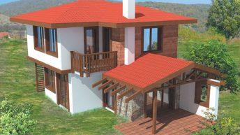 Проект на двуетажна къща в с. Просеник – РЗП 100 кв.м