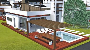 Проект eднофамилна къща в с. Каменар,  община Поморие – РЗП  240,36 кв.м