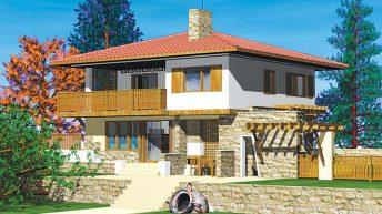 Проект на вила за сезонно обитаване Местоположение: малко селце в Троянския балкан