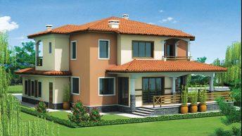 Проект на двуетажна еднофамилна къща в м. Прослав, Пловдив-Запад - РЗП 316 кв.м