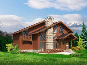 Проект на еднофамилна къща в алпийски стил в гр. Банско