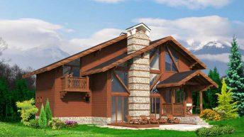 Проект на еднофамилна къща в алпийски стил в гр. Банско - РЗП 221 кв.м
