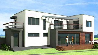Проект на еднофамилна двуетажна къща в кв. Хр.Смирнески-запад, гр. Пловдив - РЗП 312 кв.м