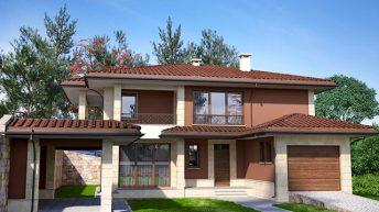 Проект на еднофамилна двуетажна къща ИРИС – РЗП 365 кв.м