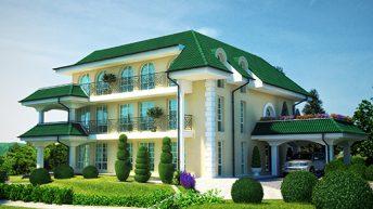 Проект на многофамилна къща в с. Катунци,  общ. Сандански – РЗП 900 кв.м