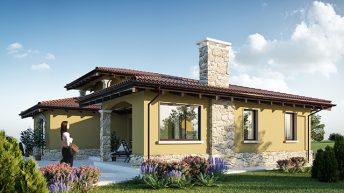 Проект на еднофамилна къща Иберис – РЗП 195 кв.м