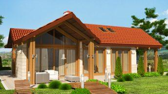 Проект на еднофамилна къща – готов проект – РЗП 114 кв.м
