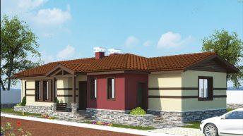 Проект на едноетажна къща в с. Строево, общ. Марица, обл. Пловдив - РЗП 107 кв.м