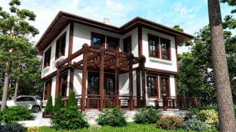 Проект на еднофамилна къща в м. с. Пролеша гр. Божурище – РЗП 169 кв.м
