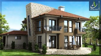 Проект на еднофамилна къща в с. Осеново, общ. Аксаково - РЗП 226 кв.м