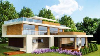 """Проект на еднофамилна къща """"Дом Лента"""" в подножието на Витоша - РЗП 448 кв.м"""