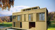 Проект на еднофамилна къща с дървена конструкция и системи за сухо строителство – РЗП 349 кв.м