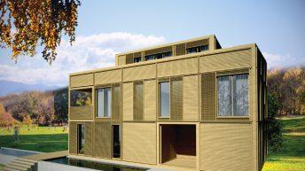 Проект на еднофамилна къща с дървена конструкция и системи за сухо строителство - РЗП 349 кв.м