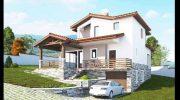 Проект на двуфамилна къща в с. Белащица,  обл. Пловдивска – РЗП 248 кв.м