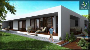 Проект на едноетажна къща в с. Константиново, общ. Варна - РЗП 212 кв.м