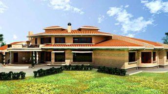Проект на еднофамилна къща в землището на гр. Пловдив - РЗП 436 кв.м