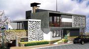 Проект на еднофамилна къща, предназначена за младо семейство с модерно мислене – РЗП 240 кв.м