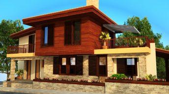 Проект на лятна къща край морето в гр. Черноморец - РЗП 244 кв.м