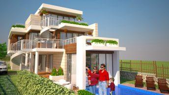 Проект на еднофамилна къща в с. Черноморец - РЗП 312 кв.м
