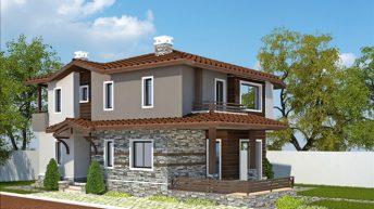 Проект на еднофамилна къща в с. Ягодово, обл. Пловдивска