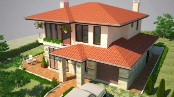 Проект на еднофамилна къща м. Панчарево, в.з. Беликата, гр. София
