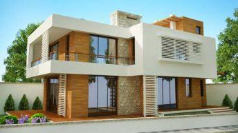 Проект на двуетажна еднофамилна къща в с. Бистрица - РЗП 265 кв.м